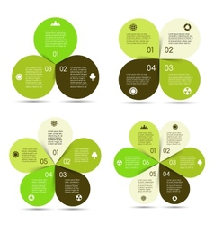 Circle eco infographics set vector