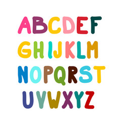 colorful alphabet isolated on white background vector image