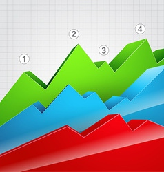colorful graph vector image