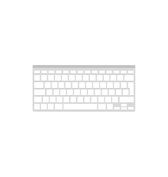 Computier keyboard in a flat style Typing vector image