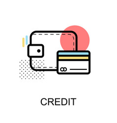 Credit card graphic icon vector