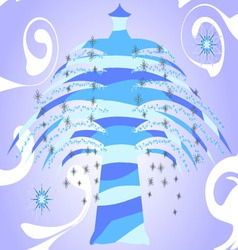 Crystal Tree With Spirals vector