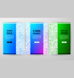 cyber monday brochure design vector image