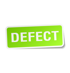 Defect square sticker on white vector