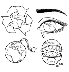 ecology concepts line art vector image