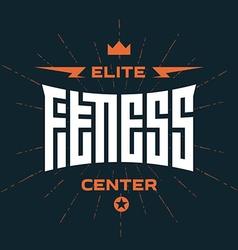 Elite fitness center - emblem or logo vector