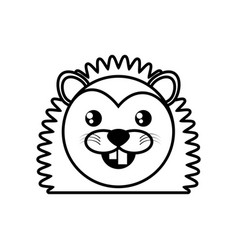 Face porcupine animal outline vector