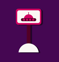 flat icon design collection flying saucer on vector image