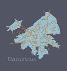 Flat map design - damascus city vector