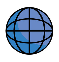 globe isolated icon vector image