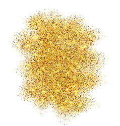 gold glitter sand frame isolated on white vector image