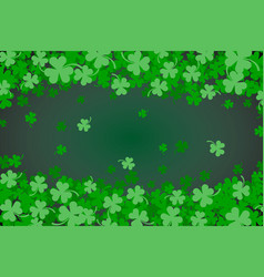Green clover abstract background for st patricks vector