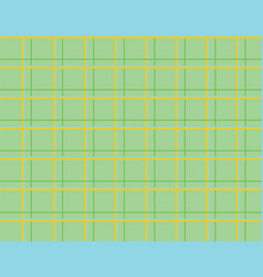 Green tablecloth checkered pattern vector