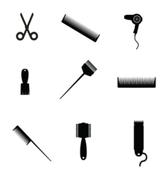 hair salon elements icon vector image