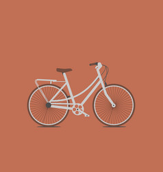 hand drawn sketch of bicycle vintage vector image