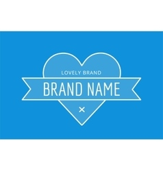 Hipster modern heart thin style logo vector