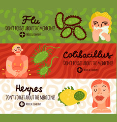 human viruses banners set vector image