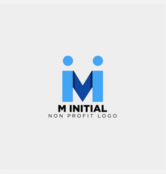 Letter m creative business logo template icon vector