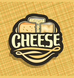 Logo for cheese vector