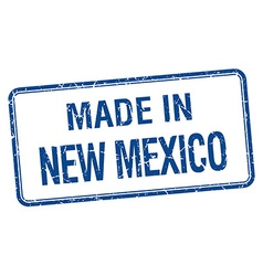 Made in new mexico blue square isolated stamp vector