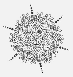 Mandala round ornament traditional indian vector