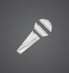 Microphone sketch logo doodle icon vector