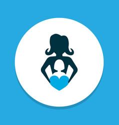 nanny icon colored symbol premium quality vector image