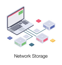 Network storage vector