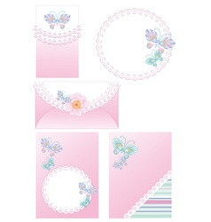 Newborn girl vector