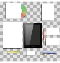 Office Supplies Isolated vector
