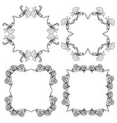 Ornate scroll frames vector