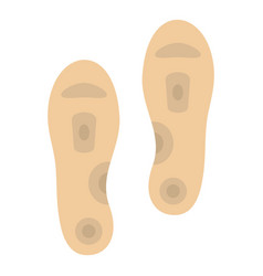 Orthopedic insoles icon isolated vector