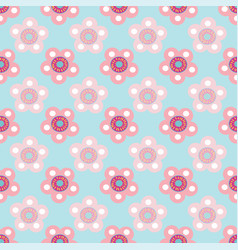 pastel floral seamless pattern repeat on vector image