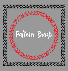 pattern brush template vector image