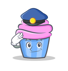 police cupcake character cartoon style vector image