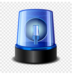 Police siren icon realistic style vector