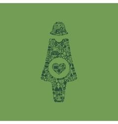 pregnant icon vector image