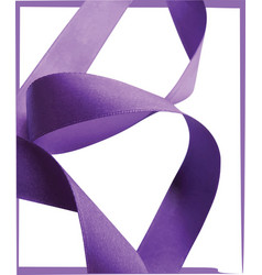 Purple ribbon over white background design element vector