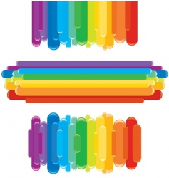 Rainbow border vector