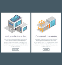 Residential construction pages vector