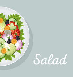 salad vegetables nutrition diet eat vector image
