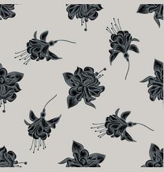 seamless pattern with hand drawn stylized fuchsia vector image