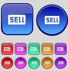 Sell Contributor earnings icon sign A set of vector