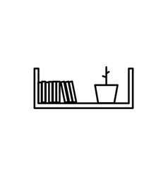 shelf icon vector image