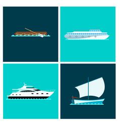ship cruiser boat sea brochure vessel travel vector image