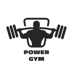 Silhouette of an athlete with a barbell vector