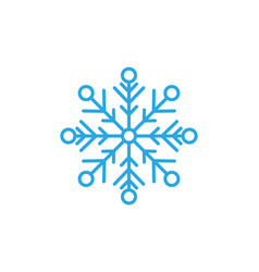 Snowflakes style design for labels badges vector
