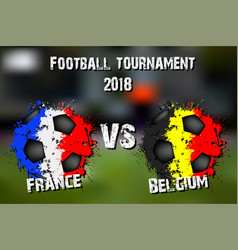 Soccer game france vs belgium vector