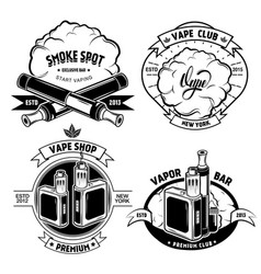 Vape badge set vector
