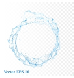 Water splash isolated vector image